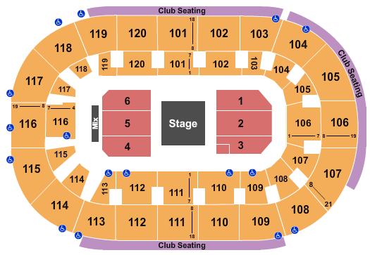 Hertz Arena Floor Plan