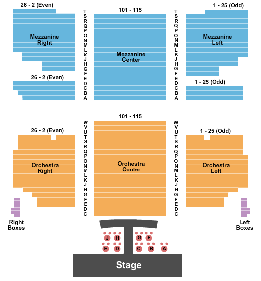 Hirschfeld Theatre seating chart event tickets center