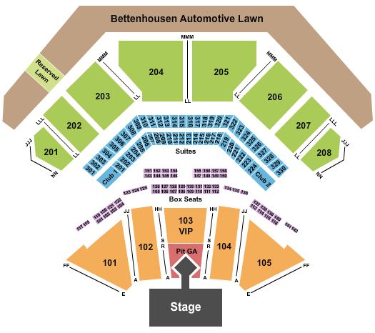 Hollywood Casino Amphitheatre - Tinley Park Floor Plan