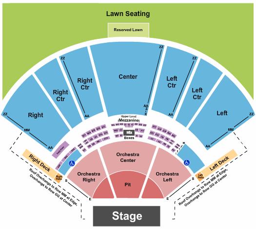 Hollywood Casino Amphitheatre - MO Floor Plan