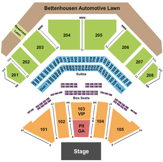 Hollywood Casino Amphitheatre - Tinley Park Floor Plan