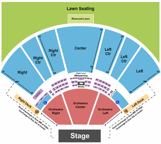 Hollywood Casino Amphitheatre - MO Floor Plan