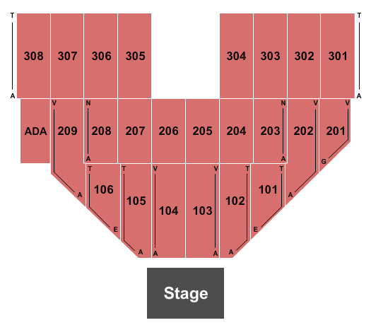 Hollywood Casino at Penn National Race Course Seating Chart