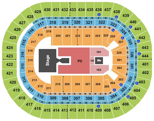 Honda Center Floor Plan