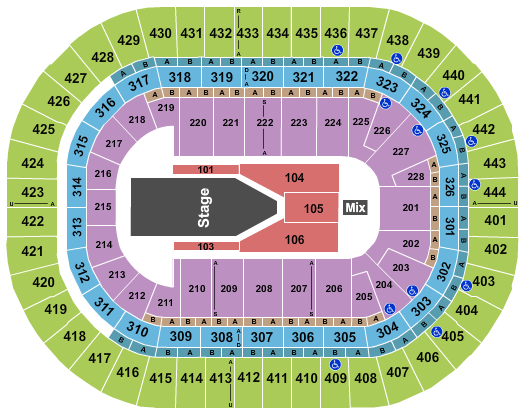 Honda Center Floor Plan