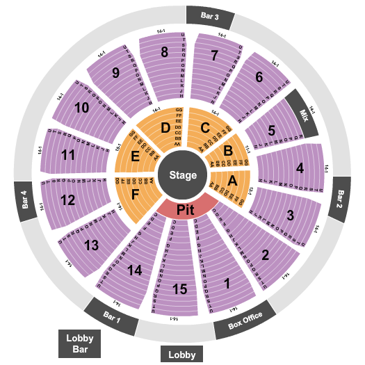 Houston Arena Theatre Center Stage seating chart - eventticketscenter.com