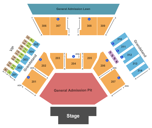 Huntington Bank Pavilion at Northerly Island seating chart event tickets center