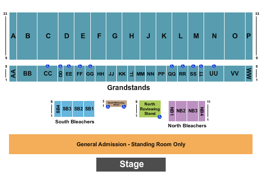 Illinois State Fairgrounds - Grandstand Seating Chart