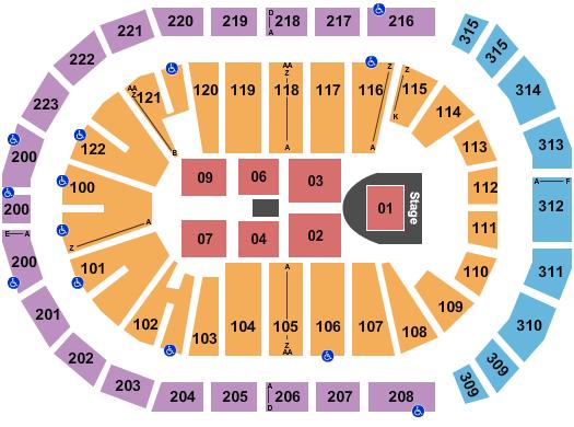 Gas South Arena Floor Plan