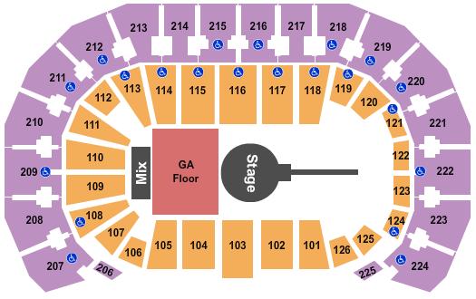 INTRUST Bank Arena Floor Plan