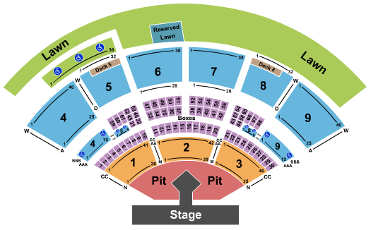 Isleta Amphitheater Backstreet Boys seating chart - eventticketscenter.com