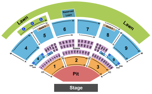 Isleta Amphitheater seating chart event tickets center
