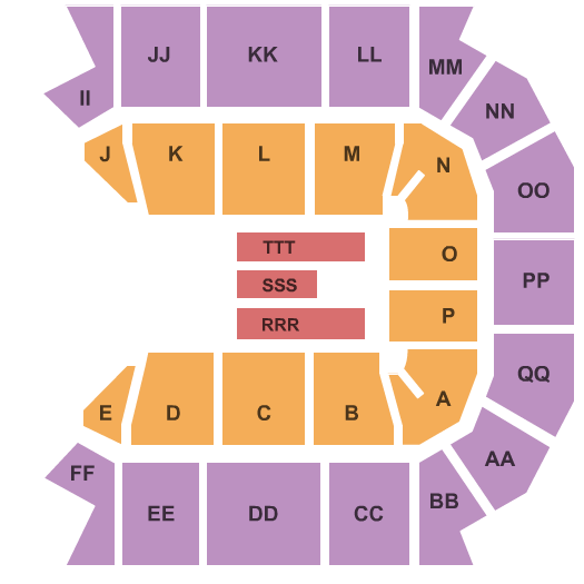JQH Arena seating chart event tickets center