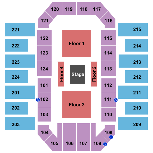 James Brown Arena seating chart event tickets center