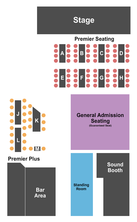 seating chart for Jammin Java Endstage 4 - eventticketscenter.com