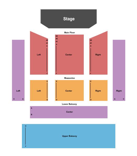 Jaqua Concert Hall - Shedd Institute Seating Map