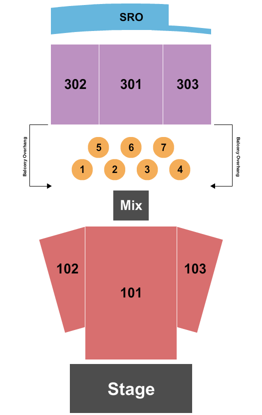 seating chart for Jefferson Theater - VA End Stage - eventticketscenter.com