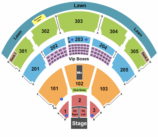 Jiffy Lube Live Seating Chart Maps