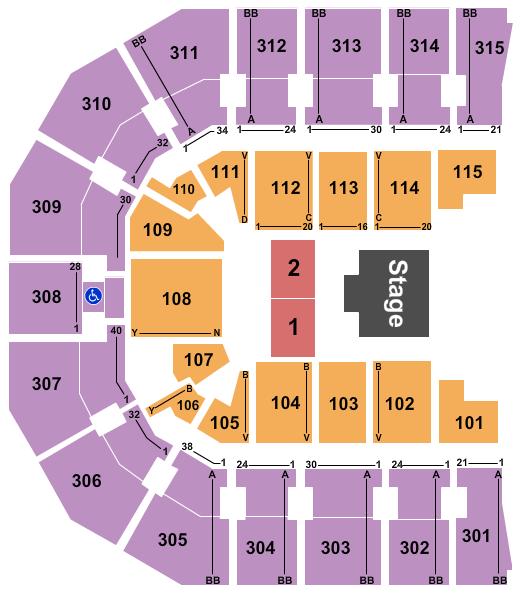 seating chart for John Paul Jones Arena Half House 2 - eventticketscenter.com