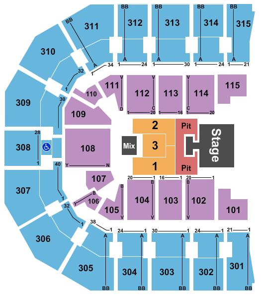 John Paul Jones Arena Floor Plan