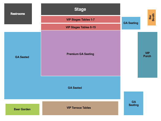 Eli Young Band John T. Floore Country Store Seating Chart