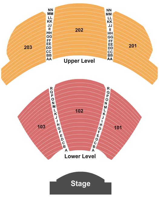 KA Theatre at MGM Grand Seating Chart Plan