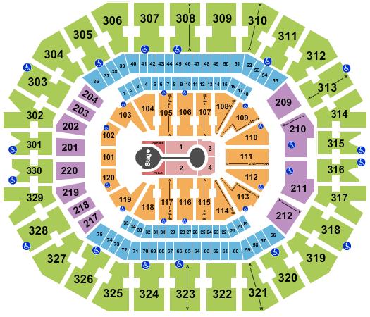 KFC Yum! Center seating chart event tickets center