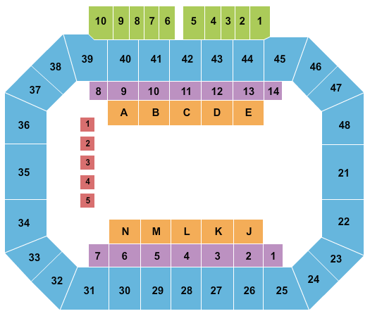 Kay Yeager Coliseum Extreme International Motorcycle Ice Racing seating chart - eventticketscenter.com