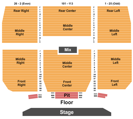 Keswick Theatre Seating Map