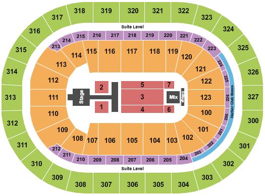 KeyBank Center seating chart event tickets center