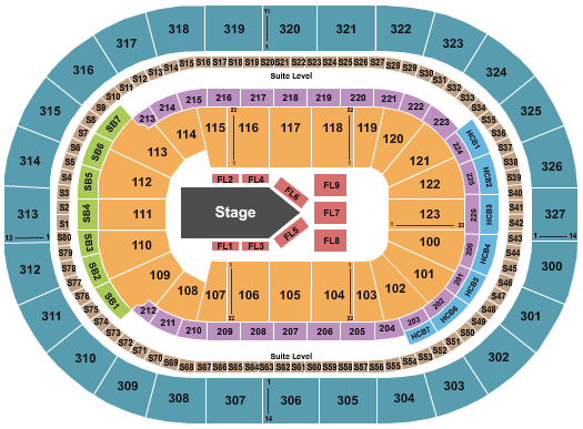 KeyBank Center seating chart event tickets center