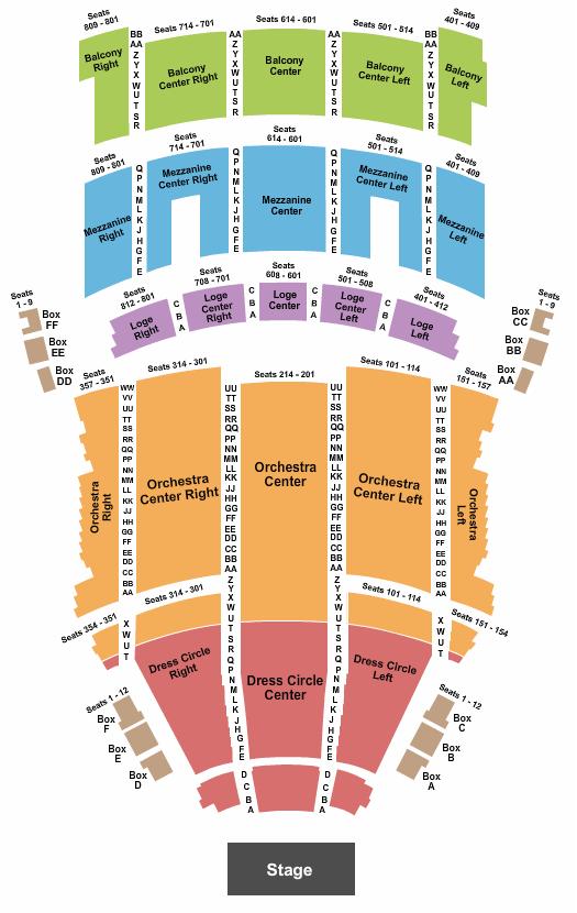 KeyBank State Theatre Floor Plan