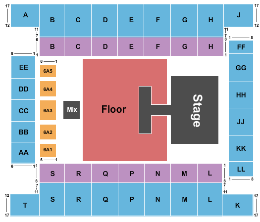 Knoxville Civic Coliseum Seating Chart
