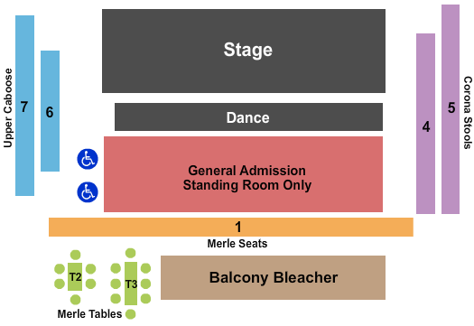 Knuckleheads Saloon Indoor Stage seating chart event tickets center