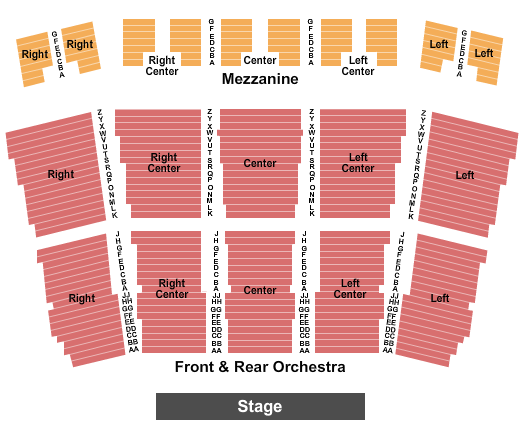 Kupferberg Center for the Arts - Colden Auditorium Seating Chart