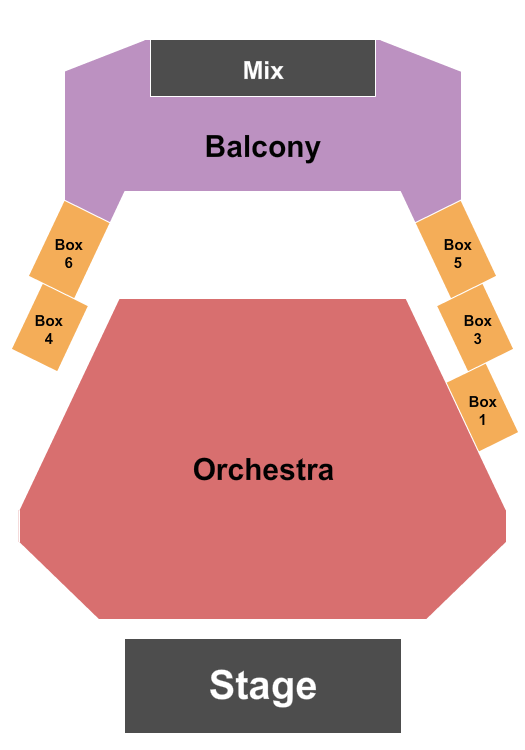Kupferberg Center for the Arts - LeFrak Concert Hall Seating Chart