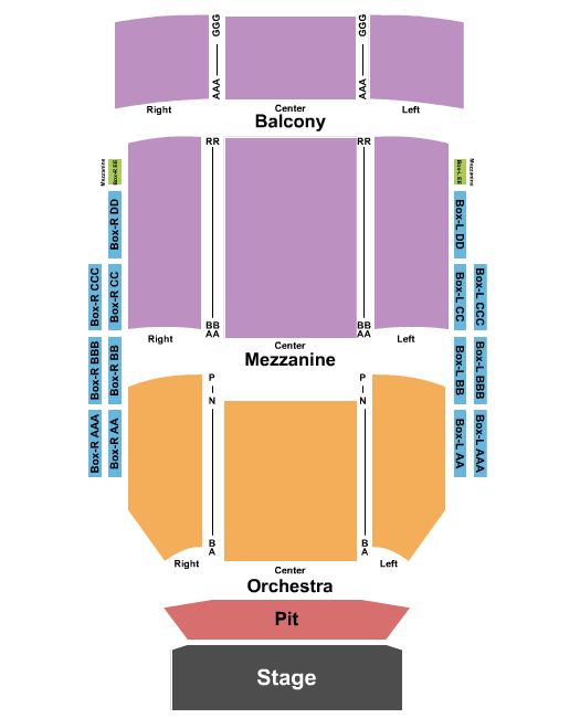 seating chart for Kuss Auditorium At Clark State Community College Endstage-2 - eventticketscenter.com
