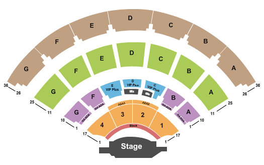 L.B. Day Amphitheater seating chart event tickets center