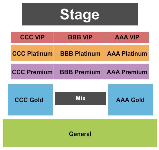 La Hacienda Event Center Seating Chart