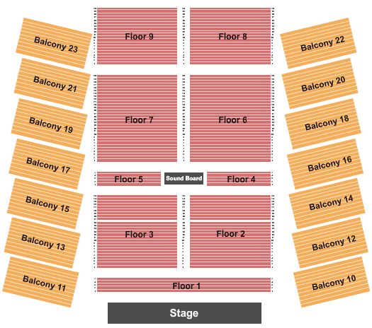 La Hacienda Event Center seating chart event tickets center