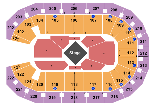 Landers Center seating chart event tickets center