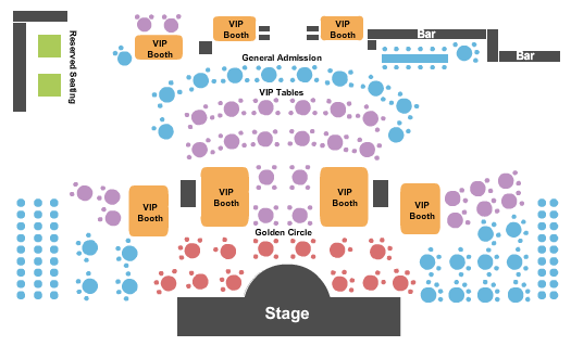 Laugh Factory Comedy Club At Tropicana Hotel & Casino Seating Map