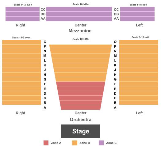 Laura Pels Theatre - Steinberg Center Seating Map