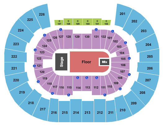 Legacy Arena at The BJCC seating chart event tickets center