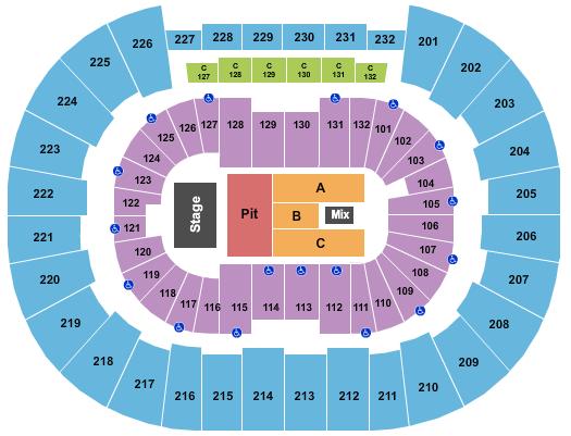 Legacy Arena at The BJCC Floor Plan
