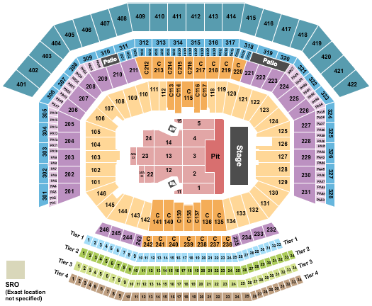 Levi's Stadium seating chart event tickets center