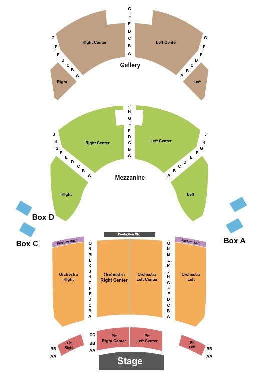 Lexington Opera House Seating Chart Plan