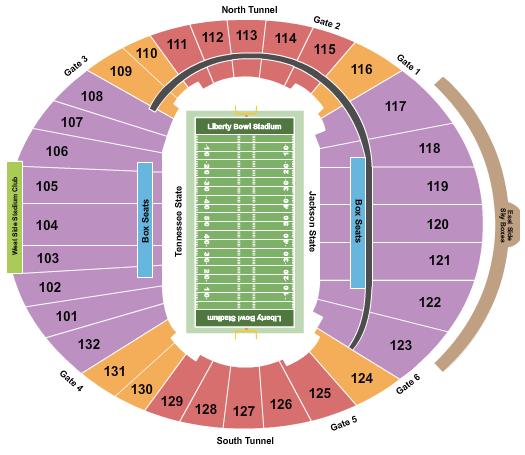 Liberty Bowl Memorial Stadium 2020 Liberty Bowl seating chart - eventticketscenter.com