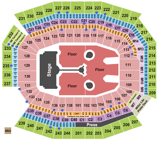 seating chart for Lincoln Financial Field Coldplay 2022 - eventticketscenter.com
