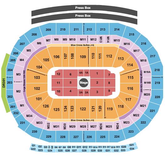 Little Caesars Arena Floor Plan